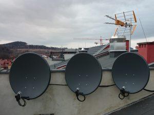 Montaż anten - zestaw anten do odbioru kilku satelit i telewizji naziemnej