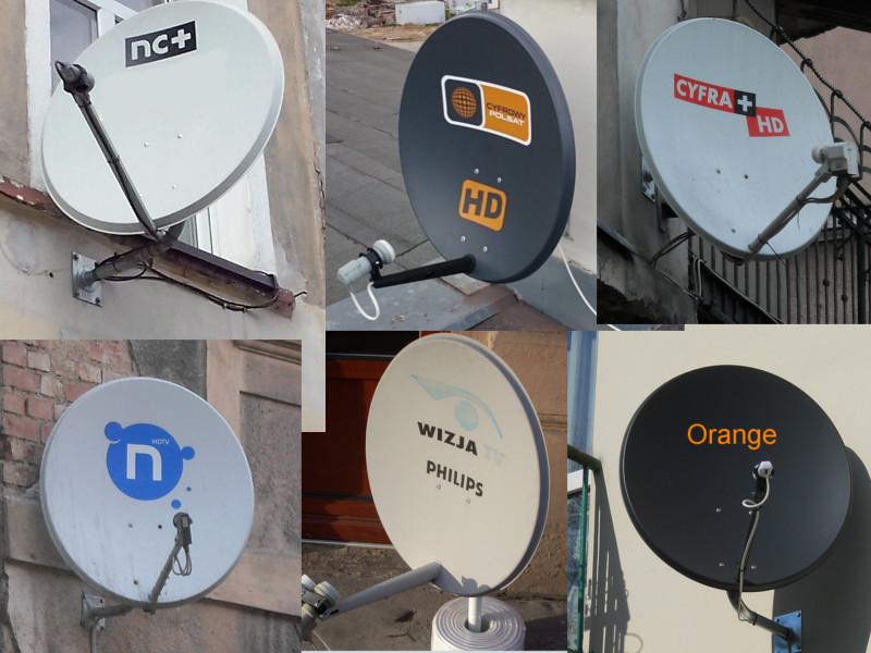 Anteny platform cyfrowych - MC+, Polsat, Orange itp.